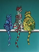 Three Little Cats by NeverDoubtILove