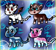 Kitten Adoptables!! 100 points each! (OPEN) by UguuAdopts