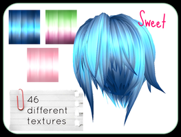 Sweet MMD Hair Textures by jackinn