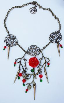 Briar Rose necklace by NovemberRoseJewelry