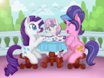 Rarity's tea party by lizzytheviking