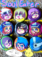 SOUL EATER BUTTONS by FlyAwayMax
