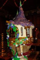 tangled tower cake close up 2 by toastles