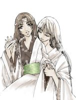 Small Sepia Couple by haiuka