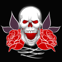 Skull and Roses by duducaico