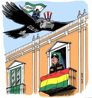Coup threat in Bolivia by Latuff2
