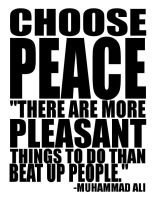 CHOOSE PEACE by battytothebone