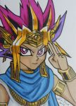 Pharaoh Atem ACEO card 3 by LadyNin-Chan