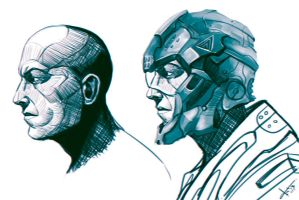Head And Helmet by victter-le-fou