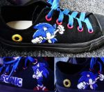 Sonic The Hedgehog Converse by KIRA009