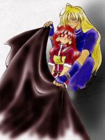 Slayers-Lina and Gourry by majochan
