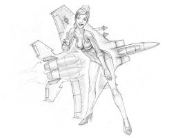 Pilot Girl F-15 by arm01