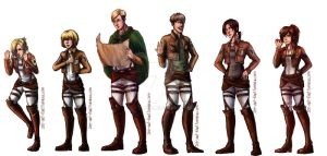 SnK: Characters pt2 by ZLynn