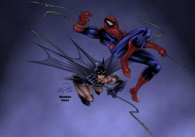 Spider-man and Batman team up by Shadowrenderer