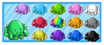 Colorful Chibi Octopi by Angel-soma