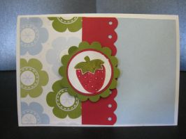 Strawberry Card by Scrapaholics