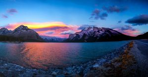 Lake Minnewanka by Splash--of--Colour