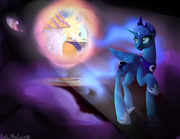 Luna Descends by LeLittleLuna