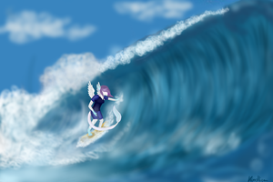 Lilly loves surfing by Kundlica