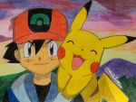 Ash and Pika are Happy by Ash-Misty-Pikachu
