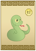 Snake card commission by MacOneill