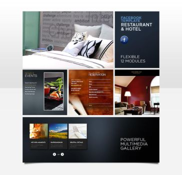 Facebook Rest. Hotel Template by pezflash