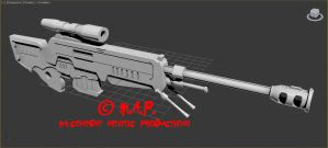M130 Advanced Sniper Rifle 3DS Max WIP by Malcontent1692