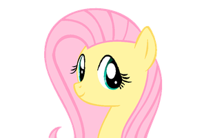 Fluttershy - On my cousin's computer by BlackHoleII