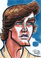 Luke Tatooine Sketch Card by Chad73