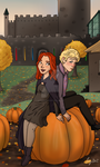 Autumn at Hogwarts by Artemismoon12