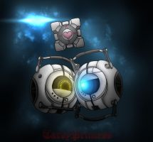 [Portal 2] Spaceley by TardyPrincess