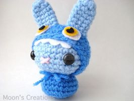 Blue Monster Moon Bun by MoonYen