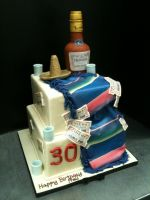 Two Tiered 30th Birthday Cake by Spudnuts