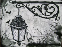Lantern Painting by JazzTat2