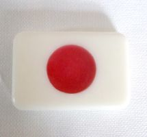 Japanese Flag Soaps by fuzzykittn