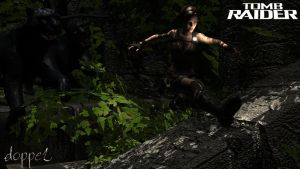 Lara escapes from the Panthers by doppeL-zgz