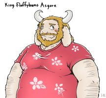 King Fluffyb... I mean, Asgore by ShinodaHamazaki