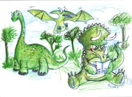 dinos by puffychin by richard-chin