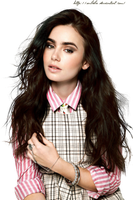 Lily Collins Png by SuBiebs