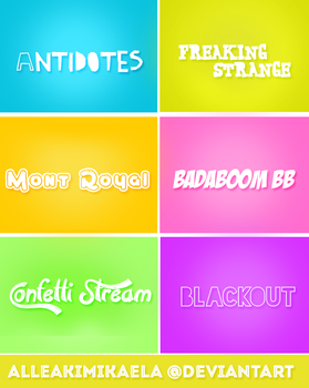 Fonts Pack #1 by AlleakiMikaela