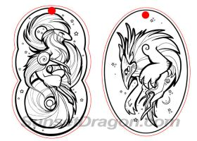 Sun and Moon Pendants by Flying-Fox