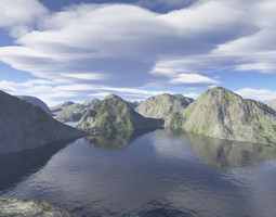 Mountains and a Lake by pyrohmstr