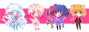 [c l o s e d] Pastel Adoptables Set by mao-hiime