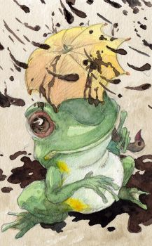 Green Tree Frog : Ripple Card by evanjensen