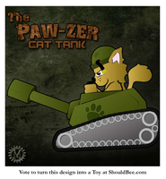 The PAW-ZER Cat Tank by ShouldBee