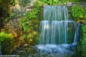 Cretan Waterfall by amrodel