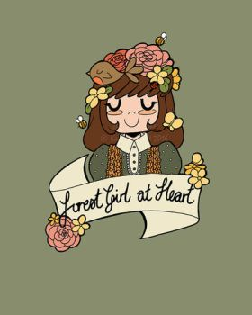 Forest Girl at Heart by tea-bug