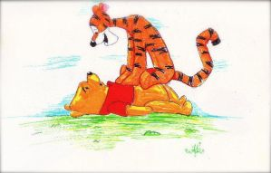 Pooh and Tigger by AnnieIsabel