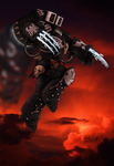 Kayvaan Shrike Captain Of The Raven Guard-colo by ShadowEngine
