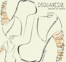 Dsqured2 Skeletal Heels by FrenchiePig